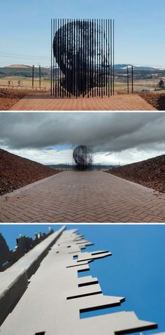 "created by South African artist Marco Cianfanelli, ""Release"" is a monument to a true icon of peace: Nelson Mandela."