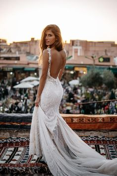 36 Totally Unique Fashion Forward Wedding Dresses ❤️ fashion forward wedding dresses sheath backless lace for beach tali photography backless wedding dress mermaid open backs lace button wedding dresses with long sleeves Unique Wedding Gowns, Wedding Dress Trends, Wedding Dress Shopping, Princess Wedding Dresses, Perfect Wedding Dress, Dream Wedding Dresses, Boho Wedding, Bridal Dresses, Wedding Styles