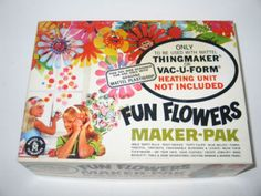 """Fun Flowers ThingMaker! 1964, 1966? Oh how fun it was to heat the Plasticgoop in the molds to create """"beautiful"""" flowers. I also had the Creepy Crawlers set. Those were the days... *smile*. I think I still have them packed away somewhere. Is anyone old enough to remember?"""