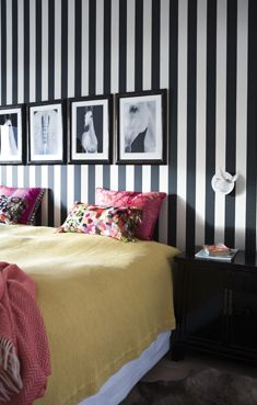 Stripped Wallpaper Black White Stripes House Decorations Decor Dorm Room