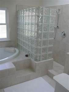 A glass block shower!  Would be great with our Mission style.....