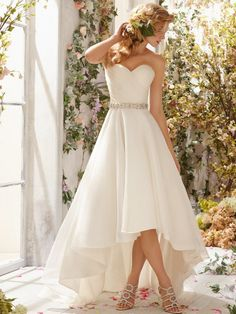 Cheap Chiffon Sweetheart A Line Vintage High Low Wedding Dresses For Wedding Gowns China