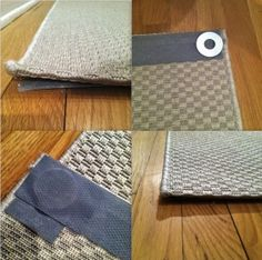 Curled Edges Of Rug Washer Traction Tape Flat