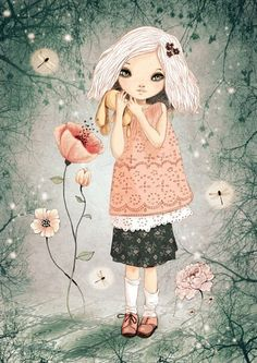 bonjour tristesse   digital art Print by matilou on Etsy, looking for whimsical  & fun artwork