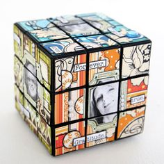 Altered Rubik's Cube by Crafts On the Net - this would be cool if you used picture book covers