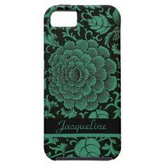 Vintage Asian Green Floral Design iPhone 5 Case