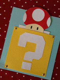 10 Super Mario Bros Invitations by ShannaRaeH on Etsy, $24.00. NM that! I can make these!!!