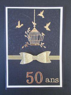 Carte pour des 50 ans de mariage noces d'or