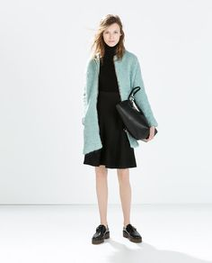 "Zipped boucle from Zara. If you had to choose an ""it"" color for a winter coat, what would it be?"