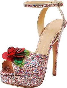 CHARLOTTE OLYMPIA Sabrina Cherry Leaf Platform Sandal