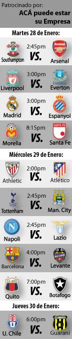 Fútbol recomendado para esta semana: 28 al 30 de Enero  http://blogueabanana.com/deportes/91-futbol/1295-futbol-recomendado-28-al-30-enero.html