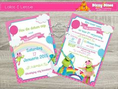 Lollos en lettie invitation and save the date. 4th Birthday Parties, 2nd Birthday, Birthday Ideas, Cloud Party, Save The Date, Invitations, Invite, Rsvp, Projects To Try