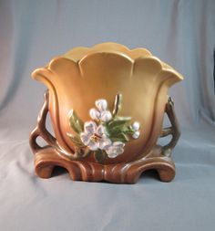 Vintage Weller Pottery Gloria Vase G 14. $59.00, via Etsy.