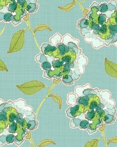 Lovely green flowers pattern