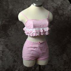 1960s Bikini Bathing Suit Swimsuit Playsuit Pink by LaMeowVintage, $60.00
