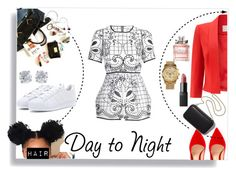 day to night by yani122 on Polyvore featuring polyvore fashion style Jacques Vert Alice McCall adidas Gianvito Rossi MICHAEL Michael Kors Tiffany & Co. Christian Dior Clare V. clothing DayToNight romper