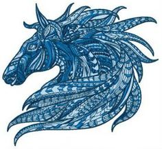 Mosaic horse 2 machine embroidery design. Machine embroidery design. www.embroideres.com