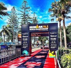 La meta espera a los triatletas que mañana serán parte del Mundial Iron Man 70.3 en Australia