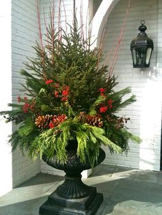 Decorative Urns For Plants Magnificent Add Lights To Decorative Urns For Added Glow Next To Your Front Decorating Design