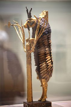 Ram in a thicket, from Sumerian city-state UR, hometown of the Patriarch Abraham C. 2600 BC.