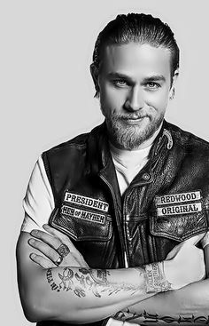 Charlie Hunnam.. seriously though... but I just watched an episode last night that made me mad at him! haha...