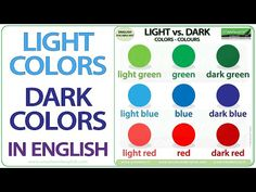 English Vocabulary - YouTube Learn English Grammar, English Vocabulary Words, English Language, English Websites, Free English Lessons, Dark Colors, Light Colors, Woodward English, Ell Students