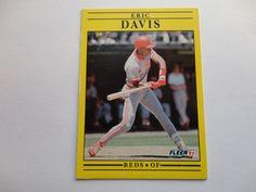 Eric Davis Fleer 91 Baseball Collection Card.