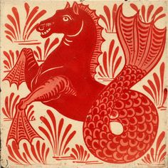 another amazing William de Morgan tile