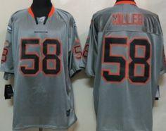 Nike Denver Broncos #58 Von Miller Lights Out Gray Elite Jersey