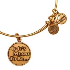 I NEED IT! Alex and Ani If It's Meant To Be Expandable Wire Bangle Russian Gold