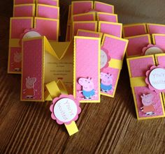TLC Handmade Gifts — Peppa and George Box Invitation Peppa Pig Invitations, Box Invitations, Birthday Invitations, Invite, Pig Birthday, Fall Birthday, 4th Birthday Parties, Birthday Ideas, Bautizo Niño Ideas