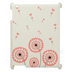 Cute Ipad Mini Case Red Dandelion / Diente de León