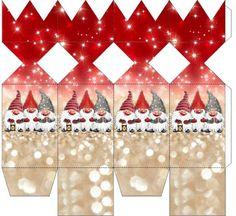 30 Christmas gift packs ready for printing. Christmas Gift Box, Christmas Minis, Christmas Holidays, Christmas Crafts, Christmas Decorations, Christmas Ornaments, Xmas, Crackers Noel, Christmas Crackers