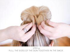 sitting in our tree: DIY - messy bun for long hair Bun Tutorials, Braided Hairstyles Tutorials, Bun Hairstyles For Long Hair, Wedding Hairstyles, Easy Messy Bun, Quick Updo, Hair And Nails, My Hair, Hair Cuts