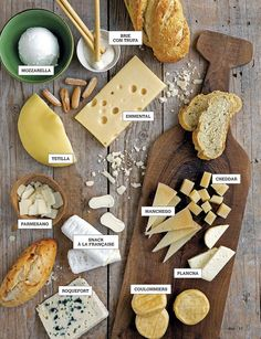 Tipos de quesos Cheese Brands, Cheese Shop, Meat And Cheese, Wine Cheese, Finger Food Appetizers, Appetizers For Party, Party Entrees, Charcuterie And Cheese Board, Food Stations