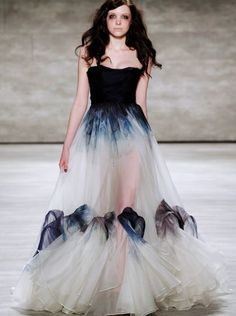 A watercolor ball gown from Leanne Marshall Fall 2015