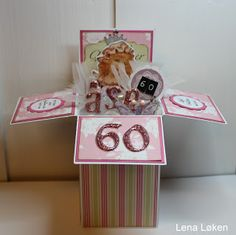 Lenas kort: Åse 60 Doodles, Container, Gift Wrapping, Blog, Cards, Gifts, Gift Wrapping Paper, Presents, Wrapping Gifts