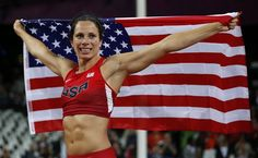 hhh United States Jennifer Suhr celebrates winning gold in the womens pole vault final during the athletics in the Olympic Stadium at the 2012 Summer Olympics, London, Monday, Aug. London Summer Olympics, Nbc Olympics, Winter Olympics, Asian Games, Olympic Champion, Summer Games, Team Usa, Track And Field