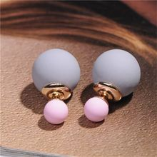Modyle 2017 New High Quality Double Faced Pearl Stud Earrings for Women 19 Candy Colors Mix Women Korea Rubber Fashion Jewelry Clean Gold Jewelry, Copper Jewelry, Ruby Jewelry, Jewelery, Fine Jewelry, Jewelry Shop, Jewelry Stores, Fashion Jewelry, Pearl Stud Earrings