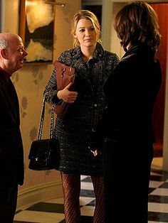 Gossip Girl Season Two: Get the Look Episode 211: The Magnificent Archibalds Serena stops by the Waldorf household, where Blair's Thanksgiving traditions are not being properly followed. She wears a Mayle coat and carries a Chanel bag.