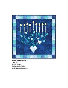 Pattern: Home for Hanukkah - PTN1872 Stonehenge Happy Hanukkah by Deborah Edwards (July 2016)