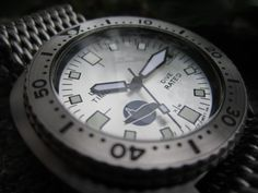 """Vintage Seiko 6309-7040 modified with a high domed """"bubble"""" crystal and custom sliver dial / plongeur type hands......the watch was built for a friend in Brazil"""