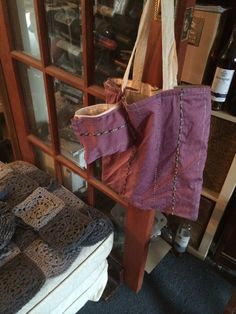 Matching tote and purse from old skirt