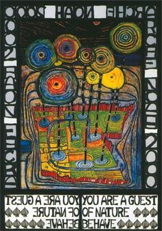 Friedensreich Hundertwasser.  Great artist to study for Earth Day projects (check out his architecture too!)