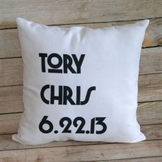 Contemporary Couple Throw Pillow ... what a great alternative to a monogrammed pillow.  Perfect for contemporary decor