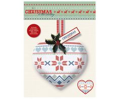 Papermania Christmas in the Country Cross Stitch Heart Decoration Kit