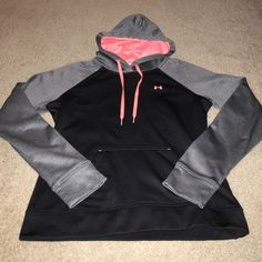 Womens UA hoodie Hardly worn. No rips, pulls, stains, etc. smoke and pet free home. Under Armour Tops Sweatshirts & Hoodies