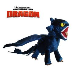 How To Train Your Dragon Plush Toy Toothless Night Fury Cool Doll