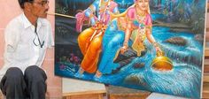 Manjibhaai Lavjibhai Ramani a Mouth Painter Amazing Pics, Just Amazing, Amazing Things, Mouth Painting, Fine Arts College, Psy Art, Before Us, Never Give Up, Daily Inspiration