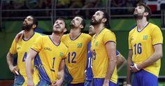 Equipe brasileira aguarda desafio - volei masculino Rio 2016